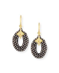 Armenta | Black Midnight Oval Drop Earrings With Diamonds | Lyst