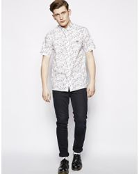Fred Perry | White Margate Shirt With Print for Men | Lyst