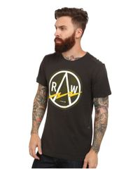 G-Star RAW | Gray Bauchan Crew Neck Short Sleeve for Men | Lyst