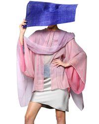 Giorgio Armani | Pink Long Silk Poncho | Lyst
