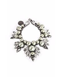 Ellen Conde | Powder Green Pearl And Crystal Bracelet | Lyst