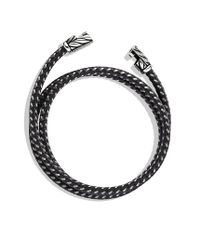 David Yurman | Chevron Triplewrap Bracelet in Gray for Men | Lyst