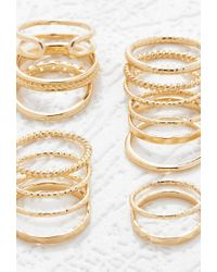 Forever 21 - Metallic Etched Midi Ring Set - Lyst