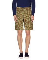 Carhartt - Green Bermuda Shorts for Men - Lyst