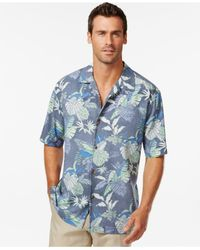 Tommy Bahama | Blue Toucan Hideaway Silk Short-sleeve Shirt for Men | Lyst