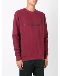 Matthew Miller - Red 'resistant' Sweatshirt for Men - Lyst