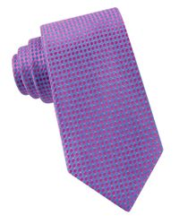 Michael Kors | Purple Cannes Diamond Silk Tie for Men | Lyst