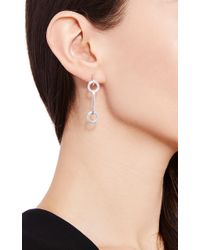 Efva Attling - Metallic Ring Chain Earring Ii - Lyst