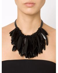 Monies | Black Cluster Necklace | Lyst