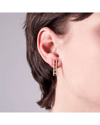 Edge Only | Metallic Ladder Earrings Gold | Lyst