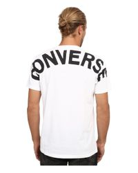 Converse - White Hidden Core Patch Short Sleeve Pocket Tee for Men - Lyst