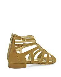 Aquatalia | Brown Evelyn Leather Sandal | Lyst