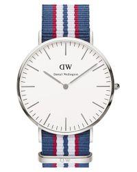 Daniel Wellington - Blue 'classic Belfast' Nato Strap Watch - Lyst