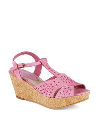 Matisse | Pink Sweet Cork Wedges | Lyst