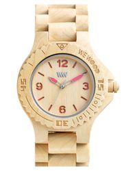 WeWood - Metallic 'kale' Wood Bracelet Watch - Lyst
