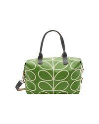 Orla Kiely Green Matt Laminated Giant Linear Stem Print Zip Holdall