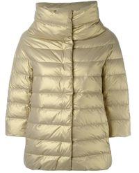 Herno - Metallic Padded Jacket - Lyst