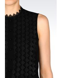 Emporio Armani - Black Silk Top - Lyst