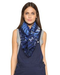 Marc By Marc Jacobs - Bolt Stripe Concentric Square Scarf - True Blue Multi - Lyst