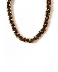 Forever 21 | Black Secret Rebel Woven Necklace | Lyst