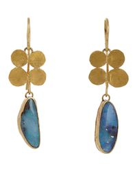 Judy Geib | Metallic Opal & Gold Quadruple Squash Earrings | Lyst