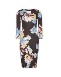 Erdem | Black Allegra Floralprint Jersey Dress | Lyst