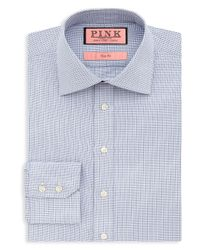 Thomas Pink - Blue Hesling Texture Dress Shirt - Regular Fit for Men - Lyst