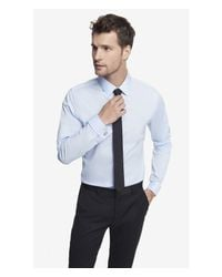 Express - Blue Fitted French Cuff 1mx Shirt for Men - Lyst