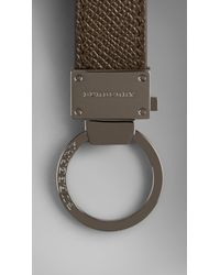Burberry - Green London Leather Key Ring for Men - Lyst