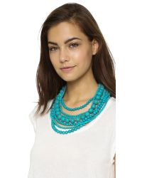 Kenneth Jay Lane - Blue Layered Necklace - Turquoise - Lyst