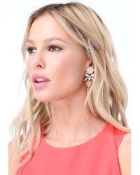 Bebe - Pink Floral Drop Earrings - Lyst