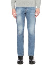 DIESEL - Blue Waykee 0842h Regular-fit Straight Jeans for Men - Lyst