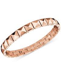 Calvin Klein | Metallic Edge Rose Gold-tone Pvd Stud Bracelet Kj3cpb100100 | Lyst
