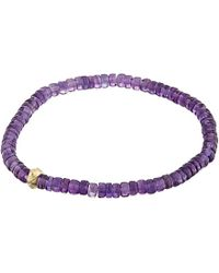 Luis Morais - Purple Evil Eye Amethyst Bracelet, Men's for Men - Lyst