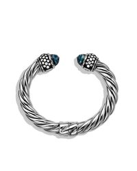 David Yurman | Metallic Cable Classics Bracelet With Diamonds, 10mm | Lyst
