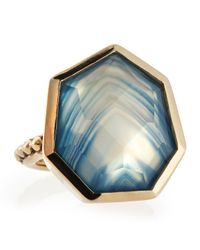 Stephen Dweck | Galactical Blue Agate Quartz Noveau Bead Ring 7 | Lyst