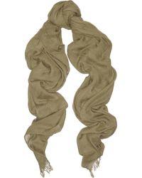 Étoile Isabel Marant - Green Curt Silk-Blend Scarf - Lyst