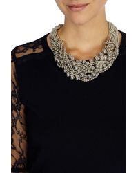 Coast - Natural Twist Cluster Necklace - Lyst