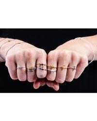 Lee Renee - Metallic Tiny Snake Ring Diamonds & Gold Vermeil - Lyst
