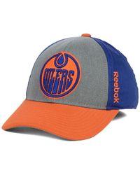 Reebok - Gray Edmonton Oilers Tnt Flex Cap for Men - Lyst