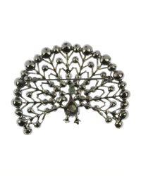 Indulgence Jewellery - Blue Gunmetal Fanned Peacock Brooch - Lyst