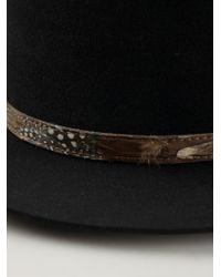Saint Laurent - Black Flat Brimmed Hat for Men - Lyst