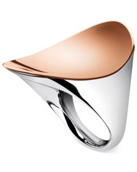 Calvin Klein | Metallic Two-Tone Curving Ring | Lyst