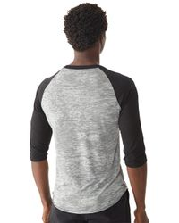Alternative Apparel - Multicolor Big League Burnout Baseball T-shirt for Men - Lyst