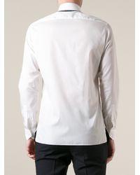 Lanvin - White Contrast Collar Shirt for Men - Lyst