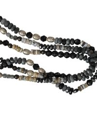 Royal Nomad Jewelry | Gray Three Strand Labradorite And Grey Moonstone Necklace for Men | Lyst