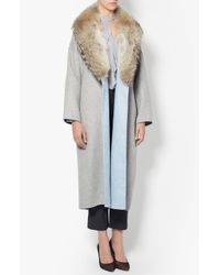 Derek Lam | Gray Dropped Shoulder Trench | Lyst