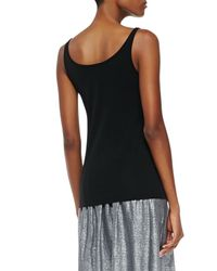 Eileen Fisher - Black Silk Jersey Long Cami - Lyst
