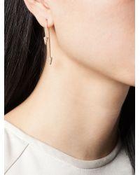 Asherali Knopfer - Metallic Interchangeable Diamond Bar Earring - Lyst