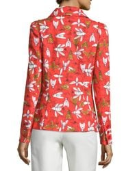 Carolina Herrera - Multicolor Insect-print Two-button Jacket - Lyst